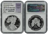 2014 W 1oz Silver Eagle Proof NGC PF70 Ultra Cameo - Elizabeth Jones Signed