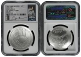 2014 P National Baseball Hall of Fame Silver Dollar NGC MS70 MLB Players Clayton Kershaw
