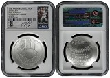 2014 P National Baseball Hall of Fame Silver Dollar NGC MS70 MLB Players Mike Trout