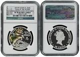 2014 Australia Cook Islands Christmas Horse NGC PF70 Early Releases Christmas Label