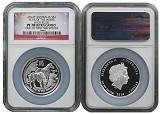 2014 P Australia Silver High Relief Horse NGC PF70 UC One Of First 500 Struck Flag Label