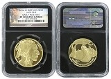 2014 W $50 Gold Buffalo Proof NGC PF70 Early Releases Black Core Holder
