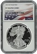 2014 W 1oz Silver Eagle Proof NGC PF70 Ultra Cameo - Flag Label