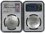 2014 P National Baseball Hall of Fame Silver Dollar NGC MS70 Ty Cobb Class Of 36 Label