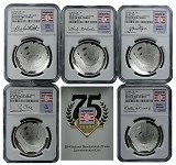 "2014 P National Baseball Hall of Fame Proof Silver Dollar ""Class Of 36"" 5 Coin Set NGC PF69 Ultra Cameo"