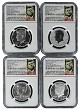 2014 Kennedy 50th Anniversary Silver Half Dollar Set NGC Graded 69 Early Releases -  Ask Not Label