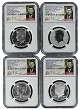 2014 Kennedy 50th Anniversary Silver Half Dollar Set NGC Graded 69 Early Releases Signature Label