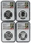 2014 Kennedy 50th Anniversary Silver Half Dollar Set NGC Graded 70 Early Releases Ask Not Label