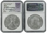2014 W Burnished Silver Eagle NGC MS69 - Early Releases - Elizabeth Jones Signed