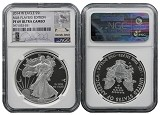 2014 W Proof Silver Eagle NGC PF69 UC MLB Players Series Derek Jeter