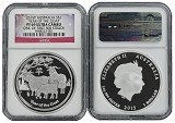 2015 P Australia 1oz Silver Proof Goat NGC PF69 UC One of first 500 Struck Flag Label