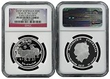 2015 Australia Lunar Series Proof 1/2oz Silver Goat NGC PF69 UC Early Releases Flag Label