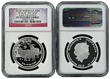 2015 Australia Lunar Series Proof 1/2oz Silver Goat NGC PF70 UC Early Releases Flag Label