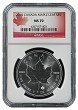 2015 Canada 1oz Silver Maple Leaf NGC MS70 Early Releases - Flag Label