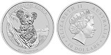 2015 Australia 10oz Silver Koala In Original Perth Airtite