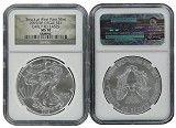 2015 (w) Silver Eagle Struck at West Point Mint NGC MS70 Early Releases Camo Label