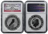 2015 Australia 1oz Silver 25th Anniversary Kookaburra NGC MS69 Early Releases Flag Label