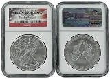 2015 1oz SILVER EAGLE NGC Brilliant Uncirculated - Flag Label