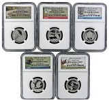 2015 S National Park Clad Quarter Set NGC PF70 Ultra Cameo