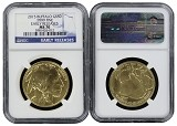 2015 $50 Gold Buffalo NGC MS70 - Early Releases - Blue Label