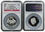 2015 P Australia Silver High Relief Goat NGC PF70 UC One Of First 500 Struck Flag Label