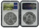 2015 1oz MLB Series Silver Eagle NGC MS70 Atlanta Braves