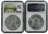 2015 1oz MLB Series Silver Eagle NGC MS70 New York Yankees