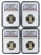 2015 S Presidential Dollar Four Coin Set NGC PF69 Ultra Cameo - Presidential Label