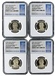 2015 S Presidential Dollar Four Coin Set NGC PF69 Ultra Cameo - 1st Day Issue