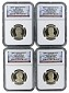 2015 S Presidential Dollar Four Coin Set NGC PF69 UC Early Releases - Presidential Label