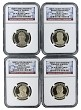 2015 S Presidential Dollar Four Coin Set NGC PF70 Ultra Cameo - Presidential Label