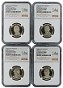 2015 S Presidential Dollar Four Coin Set NGC PF70 Ultra Cameo - Chicago ANA Releases