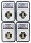 2015 S Presidential Dollar Four Coin Set NGC PF70 UC Early Releases - Presidential Label - Presale