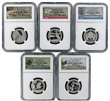 2015 S National Park Silver Quarter Set NGC PF69 UC Park Label - Early Releases - Presale