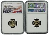 2015 W $5 Gold Eagle NGC PF70 Ultra Cameo Early Releases Flag Label