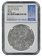2015 W Burnished Silver Eagle NGC MS69 - 1st Day Of Issue