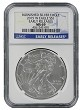 2015 W Burnished Silver Eagle NGC MS69 - Early Releases - Blue Label