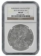 2015 W Burnished Silver Eagle NGC MS69 - Brown Label