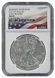 2015 W Burnished Silver Eagle NGC MS69 - Early Releases - Flag Label