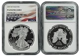 2015 W 1oz Silver Eagle Proof NGC PF69 Ultra Cameo - Flag Label