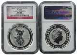 2015 P Australia 1oz Silver Koala NGC MS70 Early Releases Flag Label