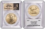 2015 $50 American 1oz Gold Eagle PCGS MS70 First Strike St Gaudens Label