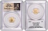2015 $5 American 1/10th Gold Eagle PCGS MS70 First Strike St Gaudens Label