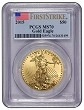 2015 $50 American 1oz Gold Eagle PCGS MS70 First Strike