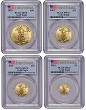 2015 American Gold Eagle 4 Coin Set PCGS MS70 First Strike