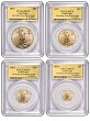 2015 American Gold Eagle 4 Coin Set PCGS MS70 First Day Issue  2,015 Set Limit