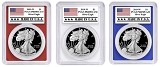 2019 1oz Silver Eagle PCGS PR69 - Red White and Blue Frame Set - Made In USA Label - PRESALE