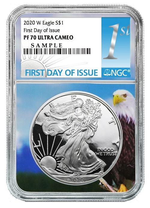 2020 W 1oz Silver Eagle Proof NGC PF70 Ultra Cameo - First Day Core - Presale