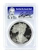 1986 S 1oz Silver Eagle Proof PCGS PR70 DCAM - Verified By David Hall