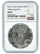 1987 (s) Struck At San Francisco Silver Eagle NGC MS69 - Brown Label